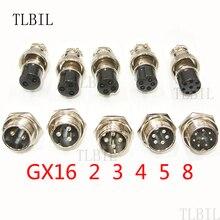 Wire-Panel-Connector Socket-Plug Aviation Female-Diameter 16mm 1set Gx16-2/3/4-/..