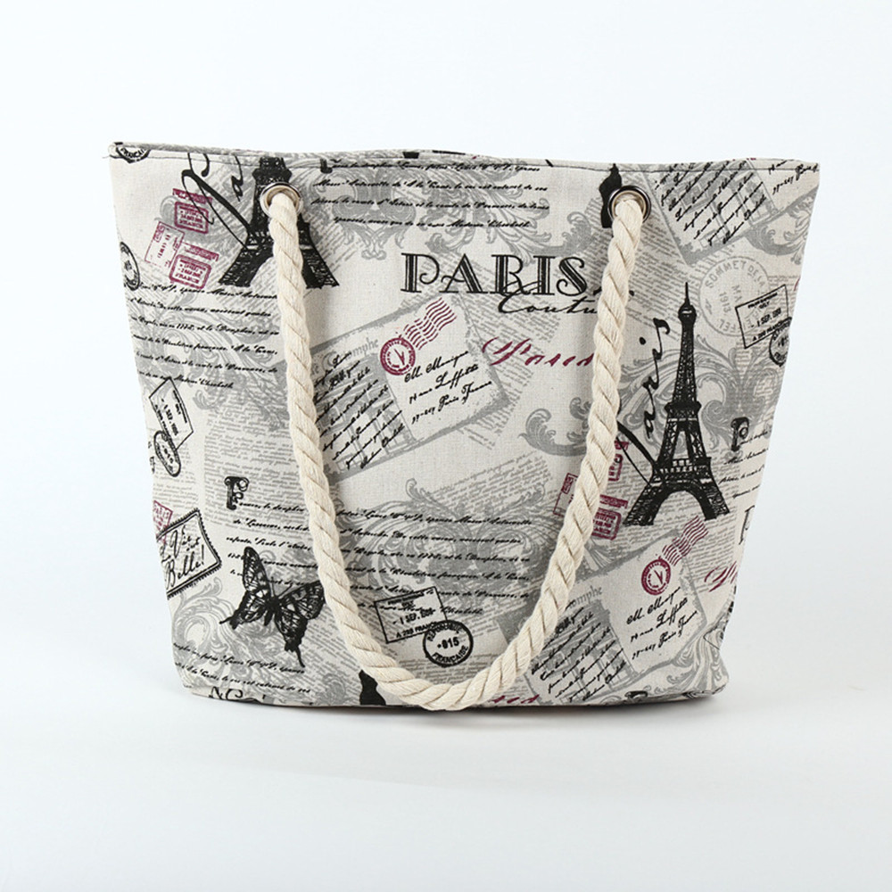 Women's Beach Printing Shoulder Bags Canvas Handbags Master Designer  ≪=487G##
