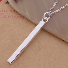 Free Shipping Silver plated Necklaces & Pendants Fashion Silver Jewelry Straight pendant /eeoamvva aorajfya AN286