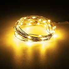 20M 200 LED String Light Christmas Wedding Copper Wire Waterproof LED Fairy String Lights Lamp DC 12V 2A Adapter