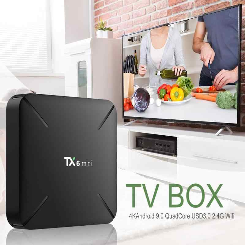 TX6 Android 9.0 TV Box 2G + 16G Allwinner H6 Quad Core 2.4G WIFI Set Top Box mali-T720 DC 5 V/2A Chơi Phương Tiện US/EU
