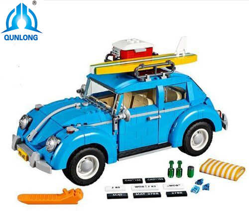 1193Pcs 10252 Creator Series City Car Volkswagen Beetle model Building Blocks Compatible LegoINGlys