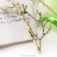 Women Simple Hair Accessories Metal Gold/Silver Plated Antler Hairpin Fashion Personality Princess Clip