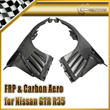 Car-styling For Nissan GTR R35 Carbon Fiber EPA Front Fender With Canard And Louver Fin(Inc 6 fins,side maker use F51 Fuga) цена и фото