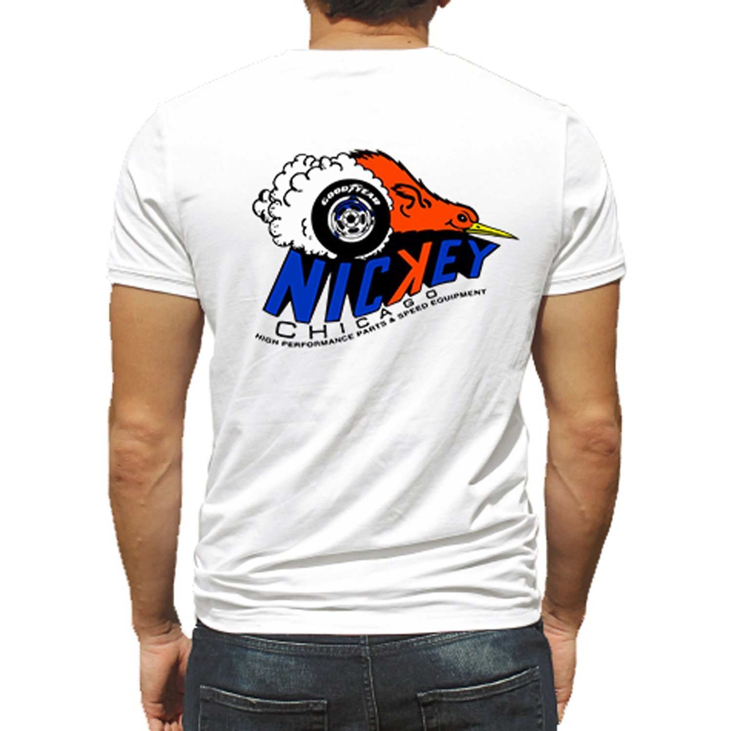 2018 New Summer Style Men Tee Shirt American Nickey Chicago Hot Rod Car Rat Nostalgia Drag Race Rac T-Shirt