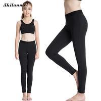 التصميم الكلاسيكي النساء تجريب الجمنازيوم رياضة اليوغا السراويل مرونة ضغط التخسيس اليوغا السراويل السوداء الإناث زائد حجم xxl