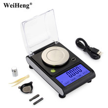 Top quality 50g 0.001g high Precision Lab Laboratory Weight Balance Jewelry Diamond Herbs Grams Gold Digital Electronic Scales(China)