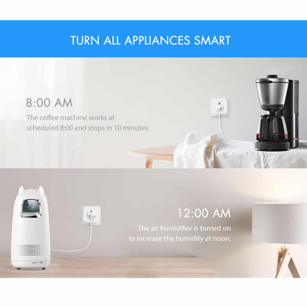 Alfawise PE1004T Smart Stecker Mini WiFi Buchse EU Stecker Arbeit mit Amazon Alexa Google Haus Handy APP Fernbedienung Energie monitor