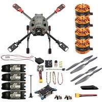 JMT полный набор для поделок 2,4 ГГц 4-Aixs Drone RC вертолеты 630 мм рама комплект Радиолинк мини PIX GPS безщеточный ESC высота Удержание