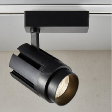 3 Wire Led Track Light Dimmable 15W 20W 30W 4000K Zoom Rail Lights Commercial Gallery Clothing Lighting 110V 220V