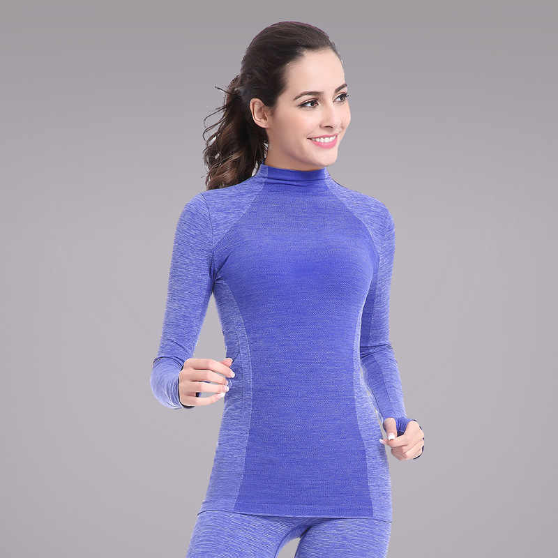 New Female Long Hoody Gymming Fitness Women Tee Conpression Workout Clothing Sporting Shirt Runs Thermal Underwear Yogaing Top