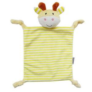 Image 3 - Noworodek maluch dzieci pluszowy ręcznik zabawka kot kreskówkowy królik grzechotka zwierzątko zabawka dziecko śpiące noworodka wypchane lalki komfort ręcznik