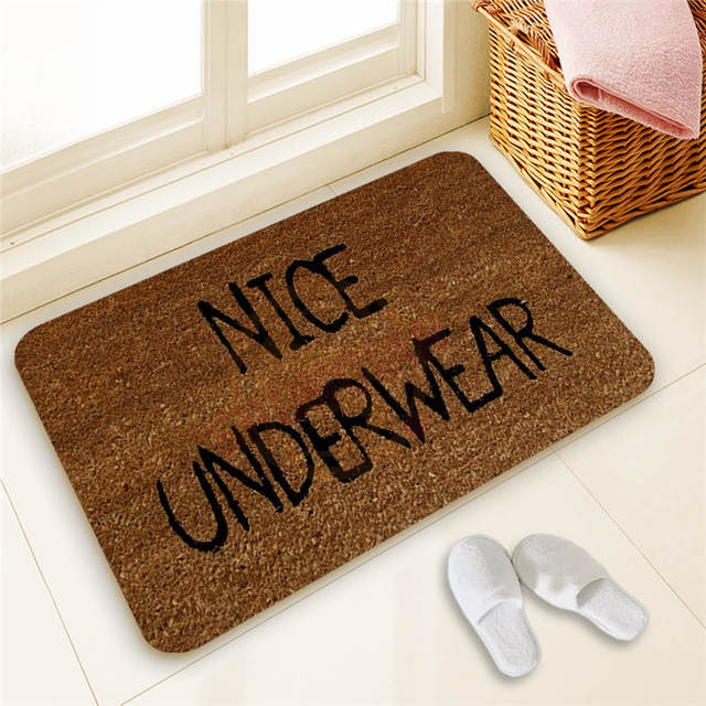 Hot Sale Custom Welcome Door Mat Art Design Pattern Printed Carpet Floor  Hall Bedroom Cool Pad