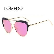 High Quality Women Designer Eyeglasses 2017 Mirrored Cat Eye Sunglasses Alloy Legs Glasses Oculos De Sol Feminino