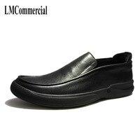 Men's leather casual men's shoes British retro cowhide breathable sneaker fashion Leisure Business Men Dress Shoes big size