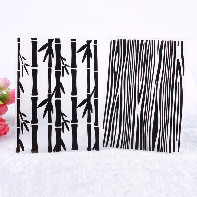 High Quality 1pc Simple Forest Bamboo Texture Pattern Plastic