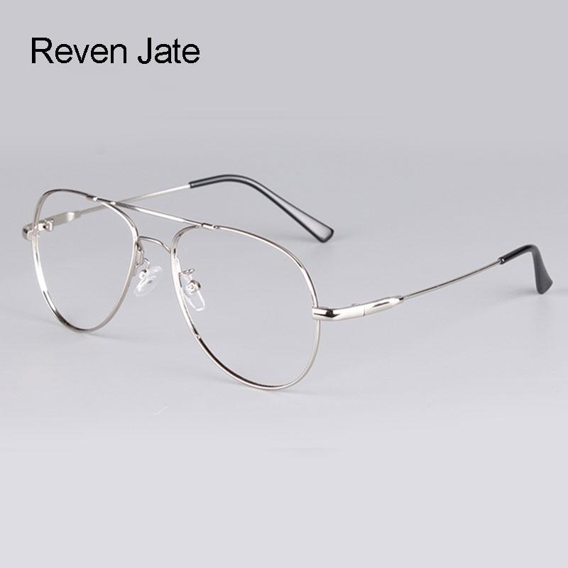 Reven Jate Full Rim Super Flexible Memery Metal aleación de titanio óptico gafas marco para hombres y mujeres con 5 colores opcionales