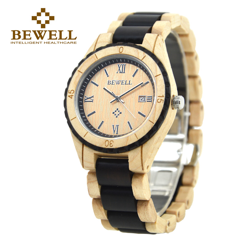 BEWELL Couple Watches Men and Women Watch Quartz Wristwatches Date Display Roman Numerals Three Pointers Relogio for Lover 128AG все цены