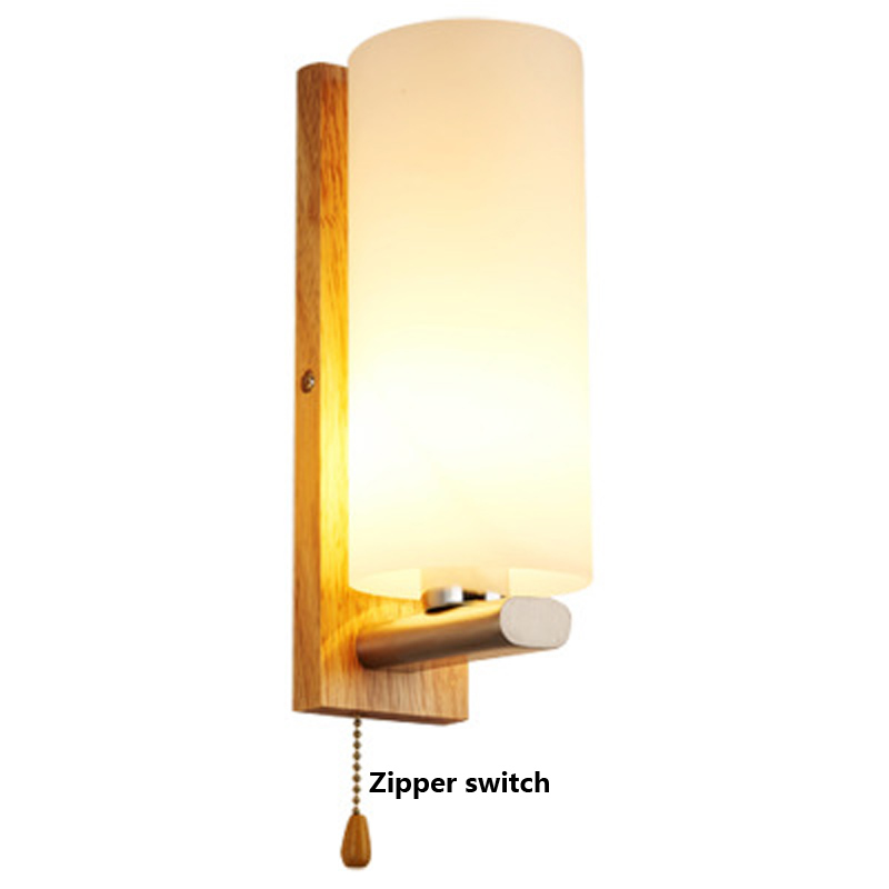 Nordic modern bedside wall lamp simple creative solid wood wall lamp LED bedroom living room aisle hotel wall lamp nordic bedroom bedside lamp wall lamp simple modern aisle corridor hotel golden background wall lamp creative led lamp