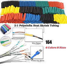 164pcs Set Heat Shrink Tube Polyolefin Shrinking Assorted  Wire Cable Insulated Sleeving Tubing Set LB стоимость