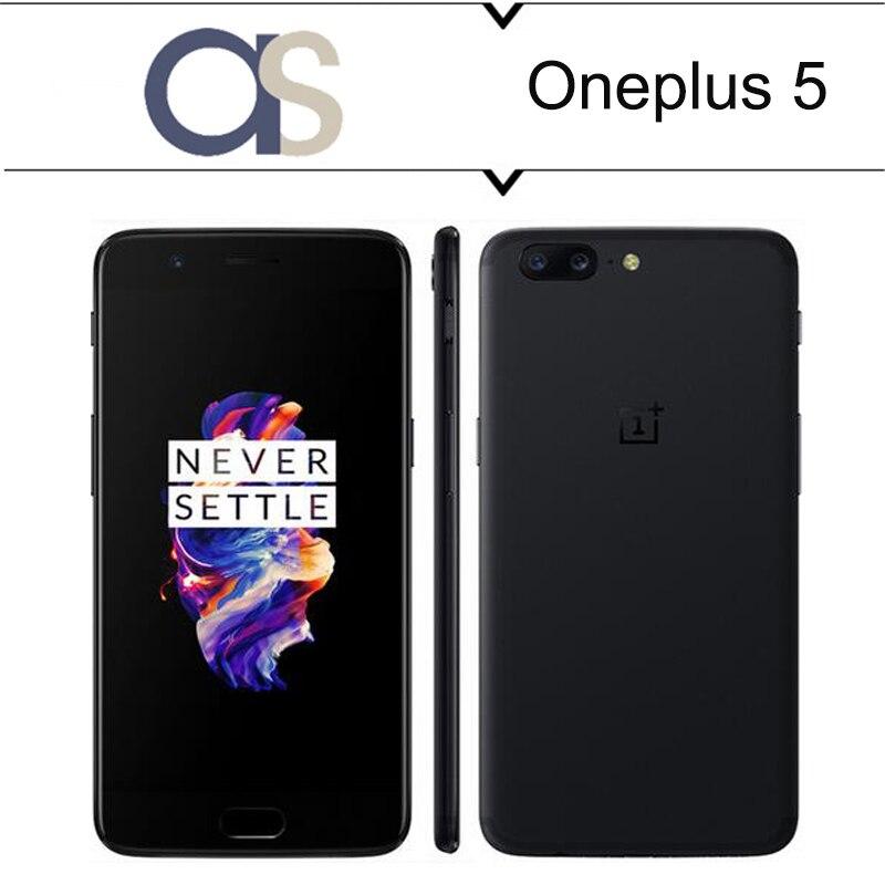 bilder für Neue Original Oneplus 5 Handy Android 7.0 Snapdragon 835 Octa-core 8G RAM 128G ROM 16.0MP + 20.0MP Rückfahrkamera Globale firmware