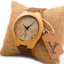 BOBO de AVES de Madera Natural de Hombres Reloj de Pulsera Movimiento de Japón 2035 Cuarzo Relojes de Primeras Marcas de Lujo del relogio masculino 2016