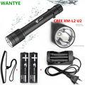 100M Diving flashlight LED diving light CREE XM-L2 L2 Diver Torch 6000Lumens flash light lanterna+18650 Battery/Charger