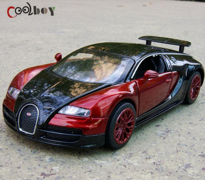 1 32 Scale Bugatti Veyron Alloy Diecast Car Model Pull Back Toy Cars
