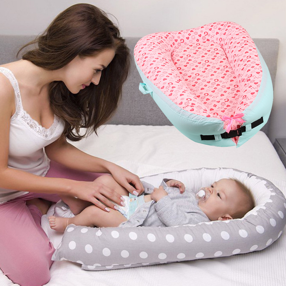 Portable Baby Bed Washable Baby Crib Infant Nest Cotton Babynest Soft Childrens Bed Cradle Folding Outdoor Toddler Travel BedsPortable Baby Bed Washable Baby Crib Infant Nest Cotton Babynest Soft Childrens Bed Cradle Folding Outdoor Toddler Travel Beds