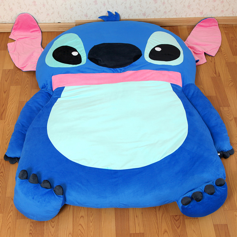 2016 Stitch cartoon mattress tatami oversized beanbag double totoro  mattress sleeping bag pad soft bed feet - Popular Totoro Beanbag-Buy Cheap Totoro Beanbag Lots From China