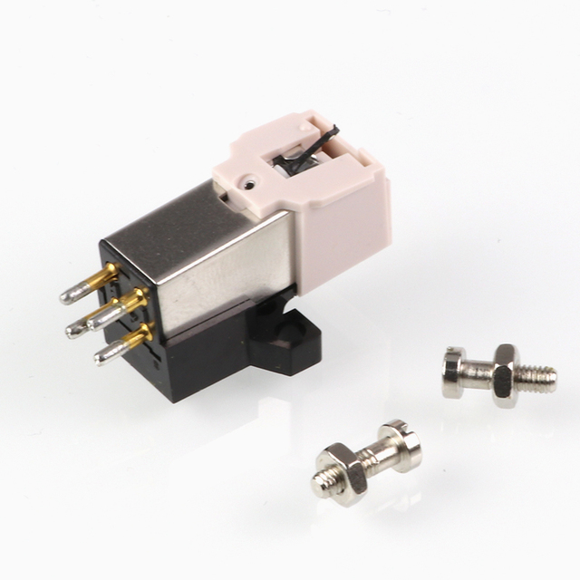 1 pc Phonograph Pickup Stylus Gold-plated Phonograph Needle Cartridge Mounting Screws Sound Connector Exquisite Packaging