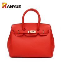 2017 Luxury Women Lock Bags Handbags Solid Women Famous Brands PU Leather Shoulder Bags Ladies Casual