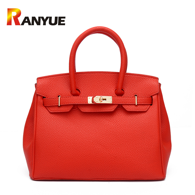 2017 Luxury Women Lock Bags Handbags Solid Women Famous Brands PU Leather Shoulder Bags Ladies Casual Tote Bag Bolsos Mujer Sac bolsos mujer 2015 fashion serpentine leather bags handbags women famous brands ladies shoulder bags designer sac de marque