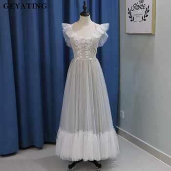 de novia 50 2019 longitud vestidos comprar tobillo vintage encaje