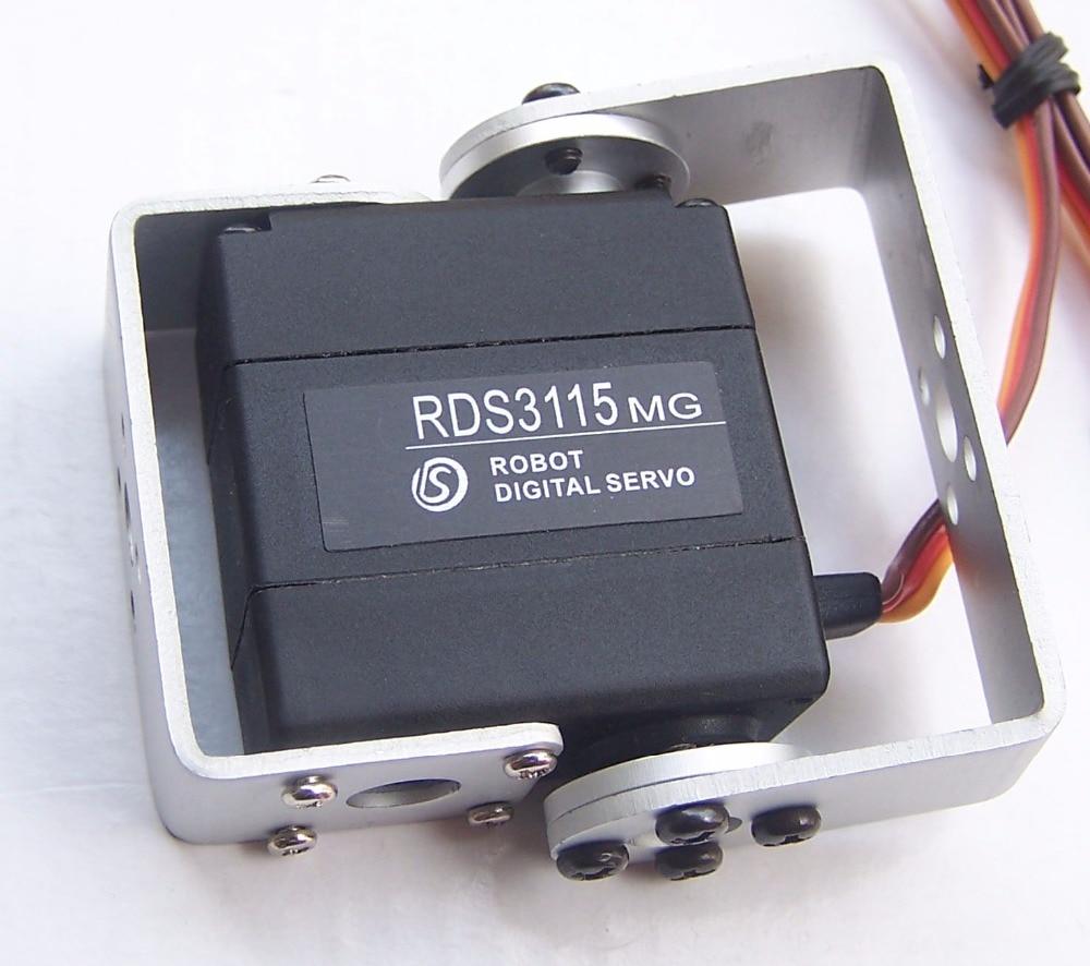Free shipping 4XOriginal factory Robot servo 15kg RDS3115 metal gear digital servo arduino servo for Robotic