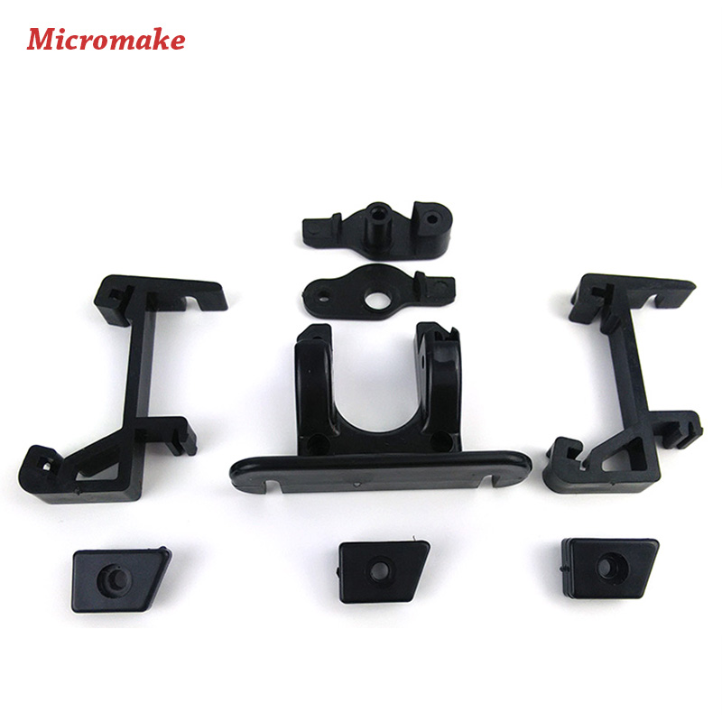 Micromake 3D Printer Parts Delta Plastic Extruder Parts Upgrade Long Distance Remote Extruder Parts for 3D