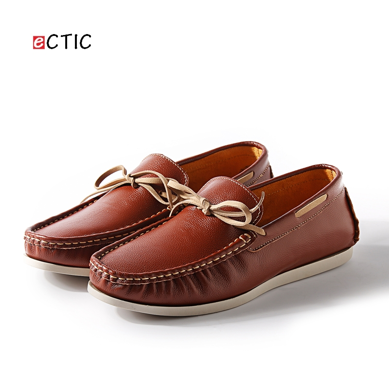 2018 New Luxury Leather Boat Shoes Mens Top Sider Driving Shoes Luxury Brand British Style Handmade Fashion Flats Gorgeous