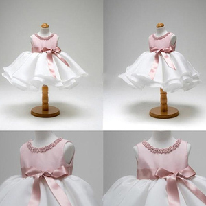 Pink Dress for Baby Christening Gown First Birthday Party Girl Baby Clothing Ball Gown Toddler Infant Vestido Infantil(China)