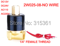 Free Shipping Electric Solenoid Valve Water Air N O 12V DC 1 4 Normally Open Type
