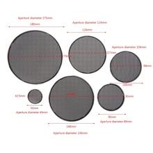 2 pces 1/2/3/4/5/6.5 Polegada alto falante malha de aço redonda grill capa protetora círculo