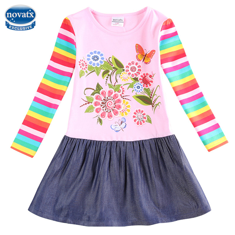 novatx H5803 Girl dress for girls party princess dress kids dresses for girls clothes nova brand