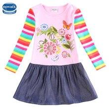 Novatx H5803 Fille robe pour les filles parti princesse robe enfants robes pour les filles vêtements nova marque enfants vêtements pour les bébés