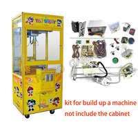 DIY Toy Crane Machine Cabinet kit Parts with Crane Game PCB Slot Game Board coin acceptor, buttons, harness ,claw