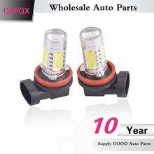 CAPQX 2 Pçs/lote 6000k branco 7.5W 12V H11 Frente Fog lâmpada luz Lâmpada LED kit LED de condução de carro styling acessórios de estacionamento iluminação