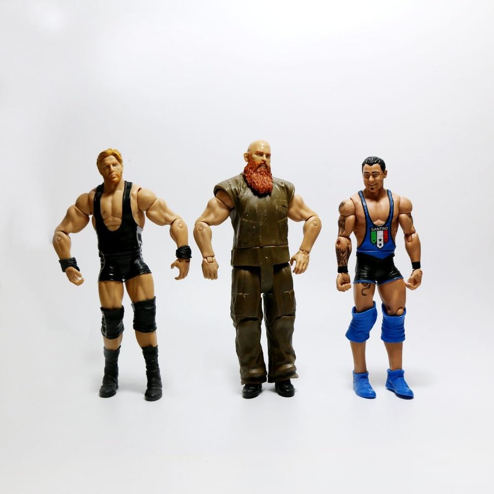 Image 5 - Wholesale 10Pcs/lot Occupation Wrestling Gladiators Movable Multi Joint Model Dolls Wrestler Action Figure toys Free ShippingAction & Toy Figures   -