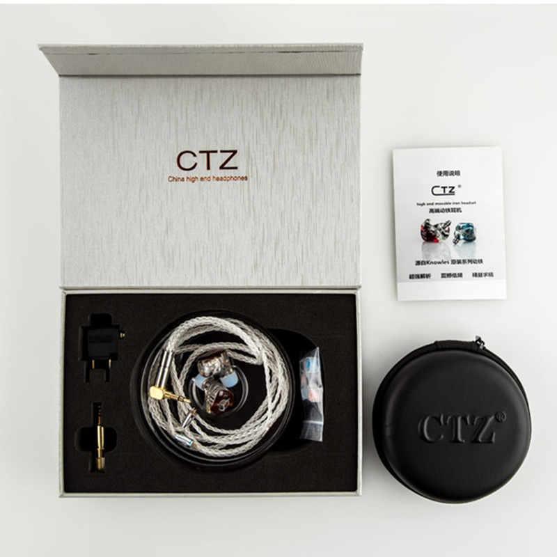 Najnowszy CTZ 32BA jednostronne 16BA w uchu słuchawki wykonane na zamówienie zbalansowana armatura wokół uszu słuchawki z 0.78mm 2PIN wtyczka słuchawki