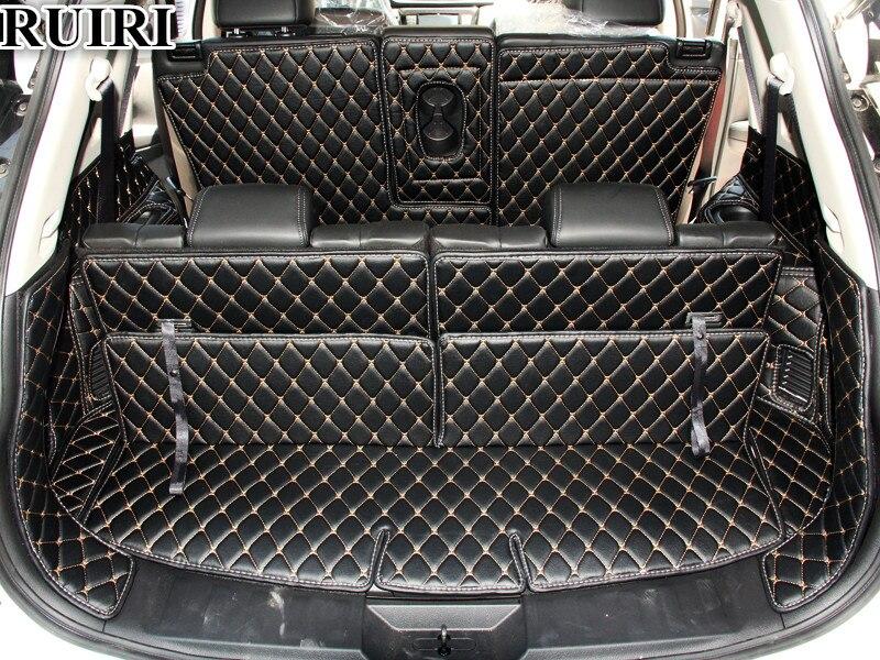 Bon! Ensemble complet de voiture tronc tapis pour Nissan x-trail T32 7 sièges 2019-2015 botte imperméable tapis cargo liner mat pour Xtrail 2018