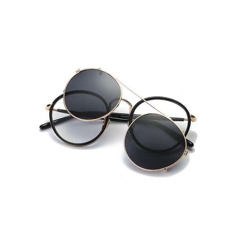 New women eyeglass frame with clip on sunglasses magnetic retro men set lenses Polarized myopia frames