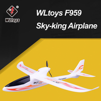 WLtoys F959 Sky king 2.4G 3CH Wingspan RTF RC Airplane Radio Remote Control Aircraft Fixed Wing Plane Outdoor Toys Drone EU