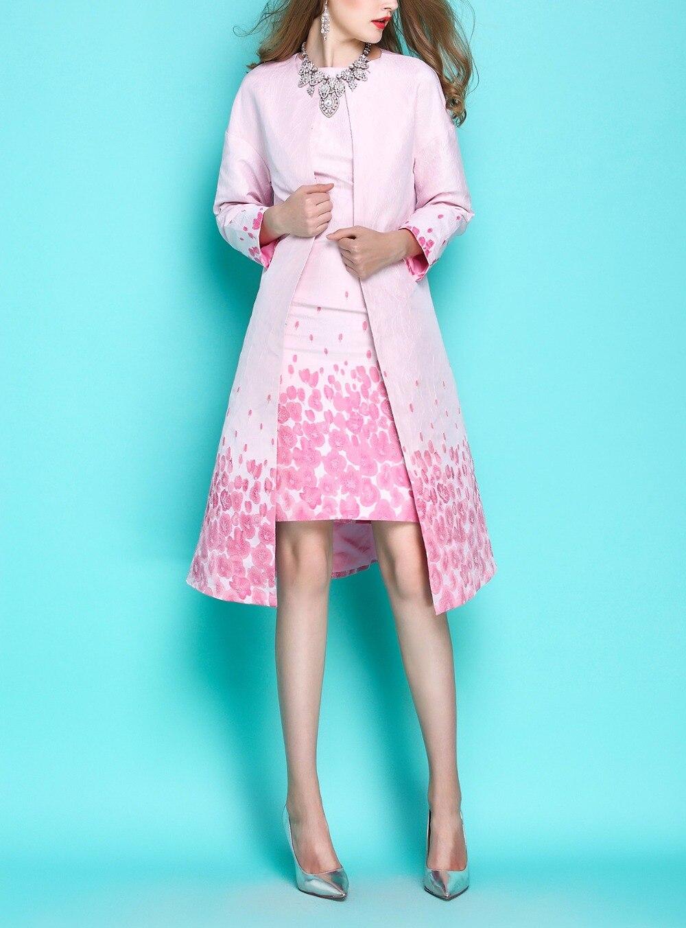 Piel Nuevos Collar Elegante Trench Romántico O De Abrigos Las Mujer Moda dress Ol Trench Jacquard 2019 Abrigo La Mujeres EzCzqP